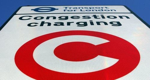 congestion charging sign