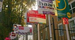 for sale, rent and to let signs