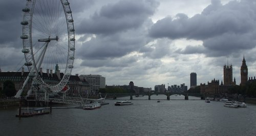 the london eye by the river thames