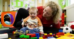 Claire Hollins, Sure Start, children's centres