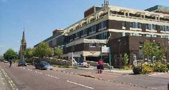 Poole Hospital Front Entrance