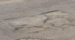 Embankment pothole