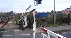 Gloucester level crossing damage