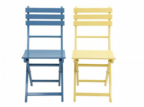 Yellow kitchen chairs - Pastel Fold Up Wooden Chairs Hot Spring Buys With