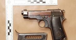 The gun used in the Aldershot triple shooting