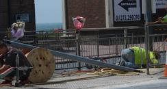 Accident site in Hove