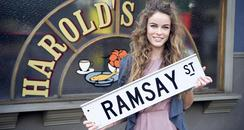 Gabriella about to start filming on Neighbours