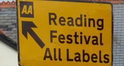 Reading Festival Road Sign 2010