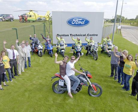 Launching the EAA Motorcycle Run at Ford Dunton
