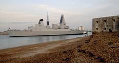 HMS Diamond Arrives In Portsmouth