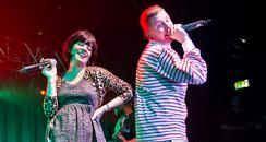 lily allen performs with professor green