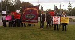 Peterborough Hospital Protest