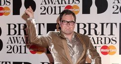 Alan Carr arriving for the 2011 Brit Awards