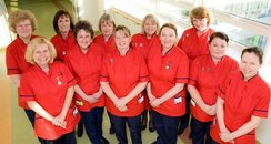 nurses in red