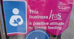 Breastfeeding Sticker in Ipswich windows