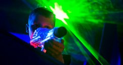 quasar laser shooting light
