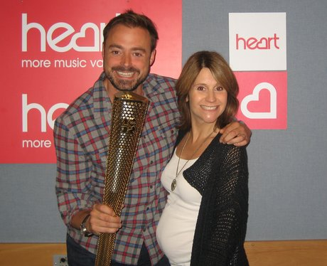 Jamie and Harriet with The Olympic Torch
