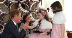 Daisy, Molly and Katie Moore meet Prince Harry