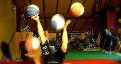 5 ball routine