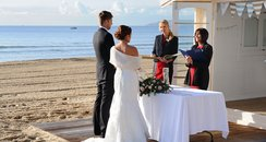 The wedding Beach Hut