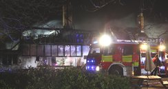 Fire at The Swan Inn, Milton Keynes Village