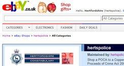 Hertfordshire Police eBay site
