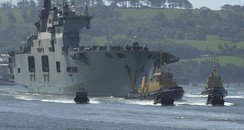HMS Ocean arrives in Plymouth