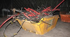 Skip of cabling found by Wiltshire Police