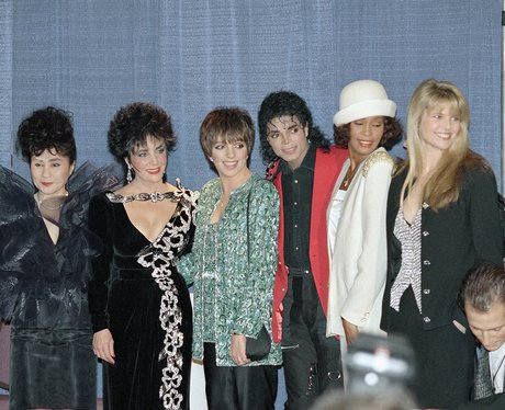 Whitney Houston, Yoko Ono, Liz Taylor, Liza Minnelli, Michael Jackson and Christie Brinkley