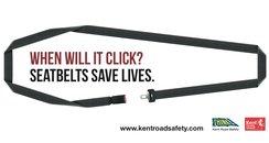 KCC Seatbelt campaign poster