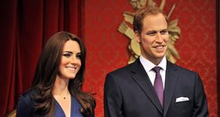 Duke and Duchess of Cambridge waxworks