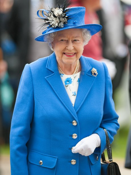 The Queen arrives at the Epsom Derby