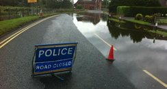 Road closures in Ferndown after flooding