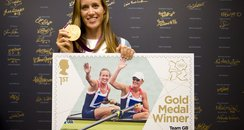 Helen Glover with Gold Stamp