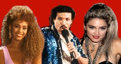 whitney houston, lionel richie, madonna