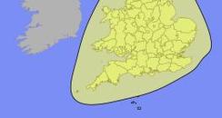 Yellow weather alert