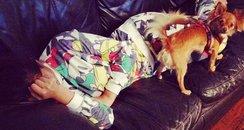 Cheryl Cole sleeping on Twitter