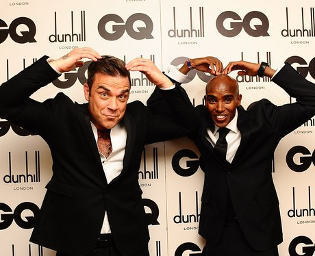 Robbie Williams and Mo Farah