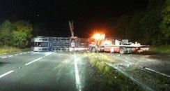 car transporter crash