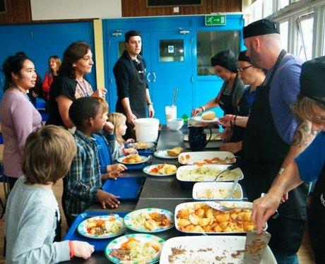school dinner tour