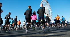 runners doing Brighton half marathon 2012