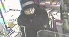 CCTV of armed robber