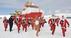 HMS Protector Santa Fun Run