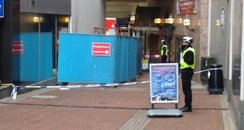 Scene of double stabbing in Birmingham