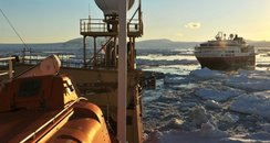 HMS Protector rescues cruise liner