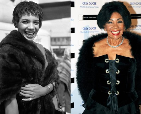 A young Shirley Bassey and Shirley Bassey age 76