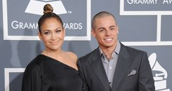 Jennifer Lopez and Casper Smart arrive at the Gram