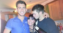 Ryan (left) with Mum, Sue and brother, Bradley