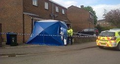 Police cordon around home in Bicester