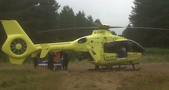 Air ambulance in Thetford after woman collapsed an